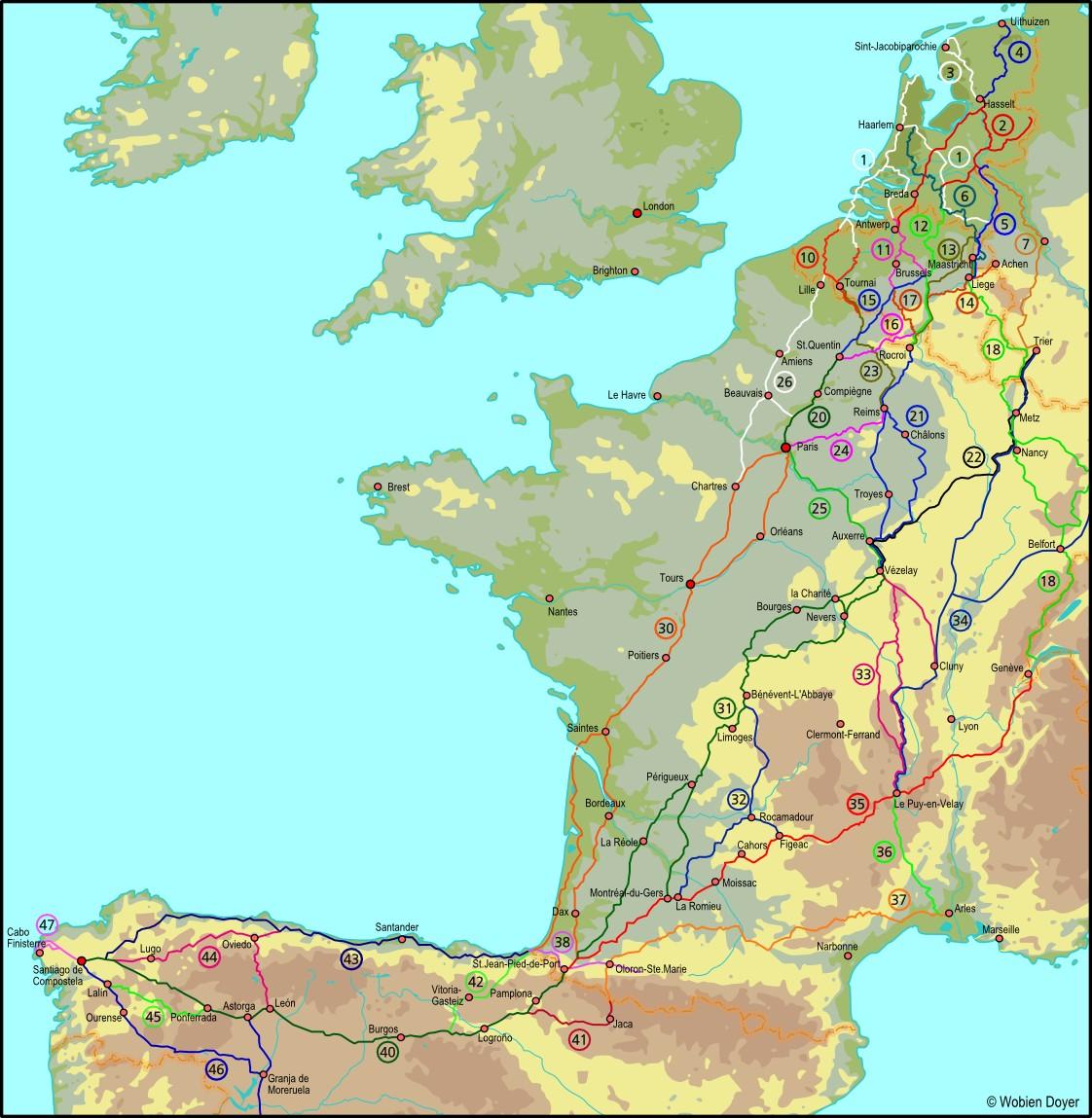 Vezelay France Map.Interactive Walking Map